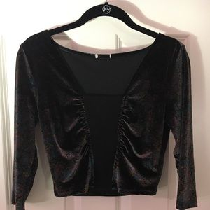 Urban Outfitters velvet crop top